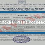 Выписка ЕГРП из Росреестра
